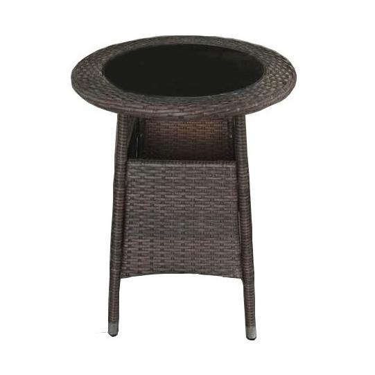 Factory wholesale Aluminium Frame Sofa Set - JJT3177G Steel frame outdoor rattan bistro table – Jin-jiang Industry