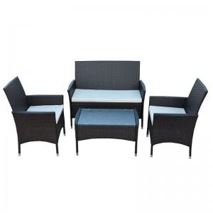 JJS315 Steel frame rattan 4pcs sofa set
