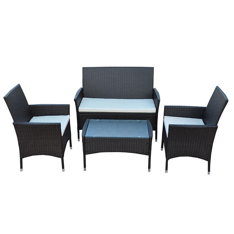 Big Discount Outdoor Furniture Lounge Garden Set - JJS315 Steel frame rattan 4pcs sofa set – Jin-jiang Industry