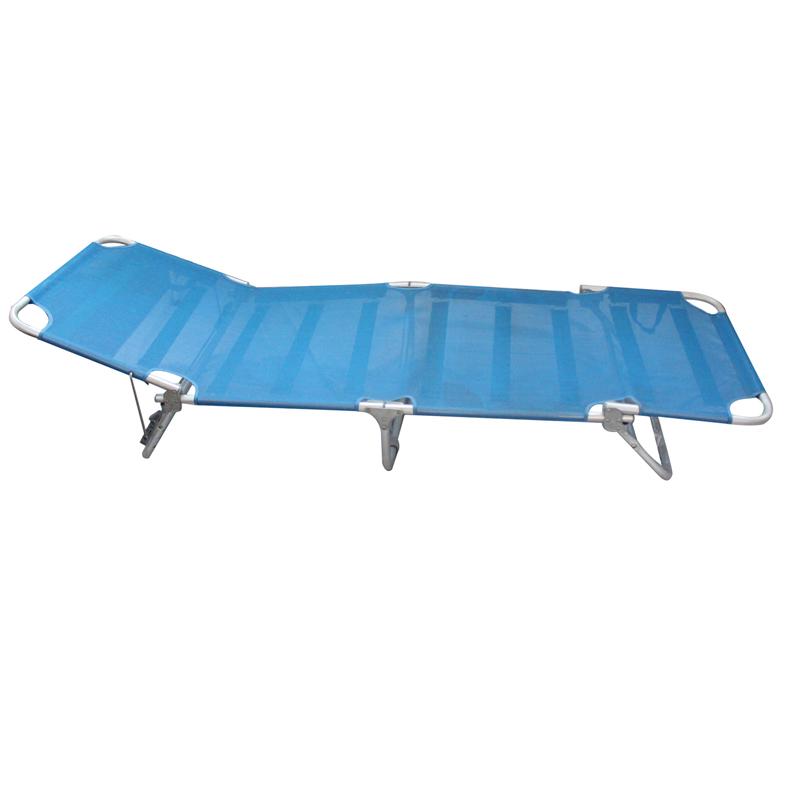 OEM China Chaise Sun Lounger - JJLXB-011 Aluminum camping folding lounger – Jin-jiang Industry