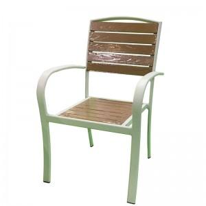 Manufactur standard Outdoor Furniture Garden Set - JJC14004 Aluminum PS wood stacking chair – Jin-jiang Industry
