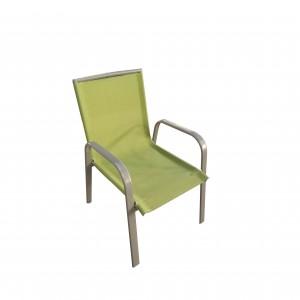 OEM Manufacturer Garden Sun Lounger - JJ302C-Pear Kid's steel textilene stacking chair – Jin-jiang Industry