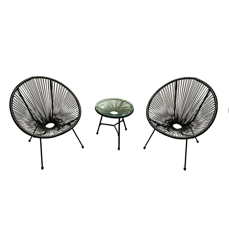 Best quality Sofa Furniture Set - JJS321 Steel frame round wicker bistro set – Jin-jiang Industry