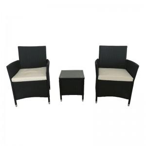 Excellent quality Rattan Garden Furniture Set - JJS304 Steel frame rattan patio set – Jin-jiang Industry