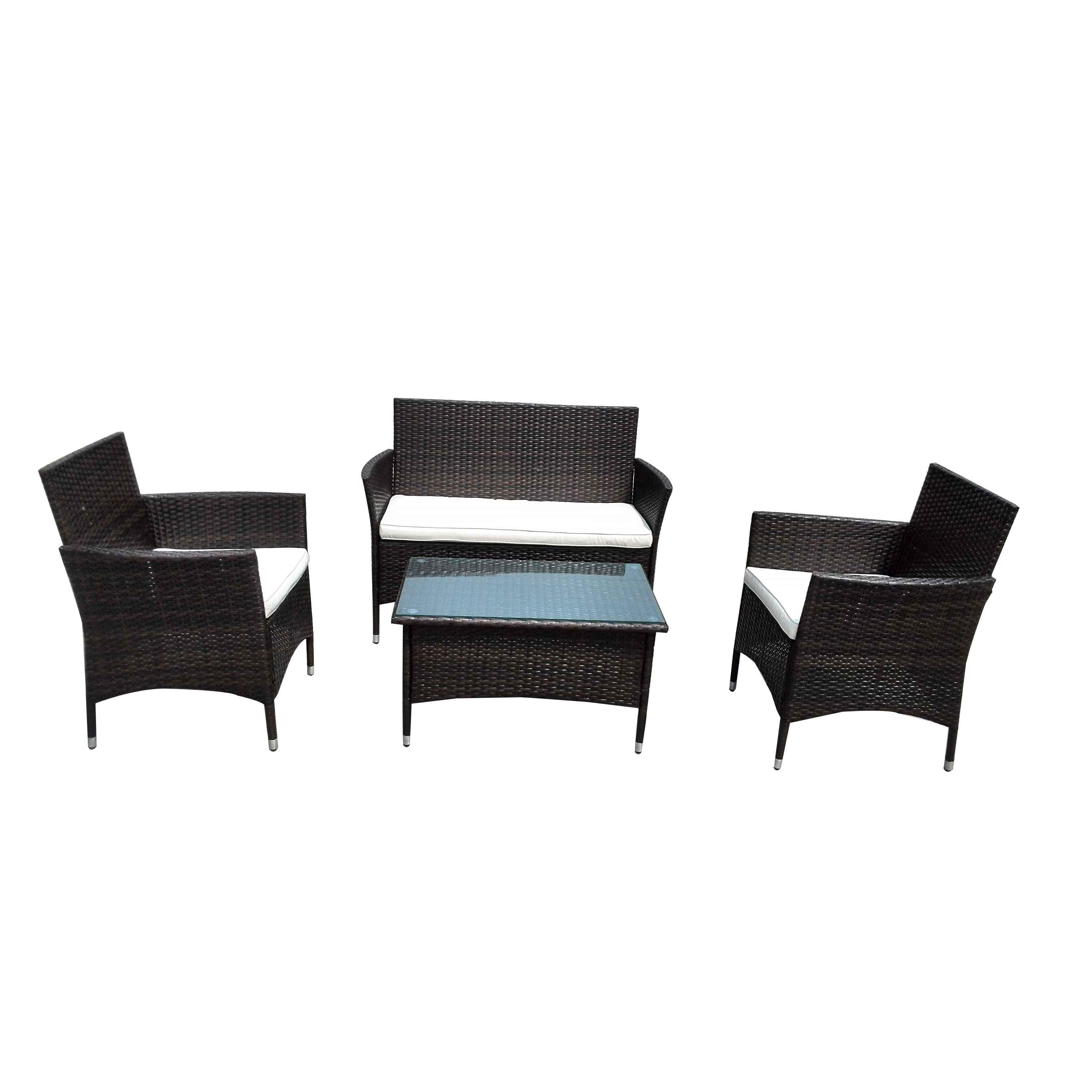 OEM China Pavilion Gazebo Pe - JJ3147 Steel frame rattan 4pcs sofa set – Jin-jiang Industry
