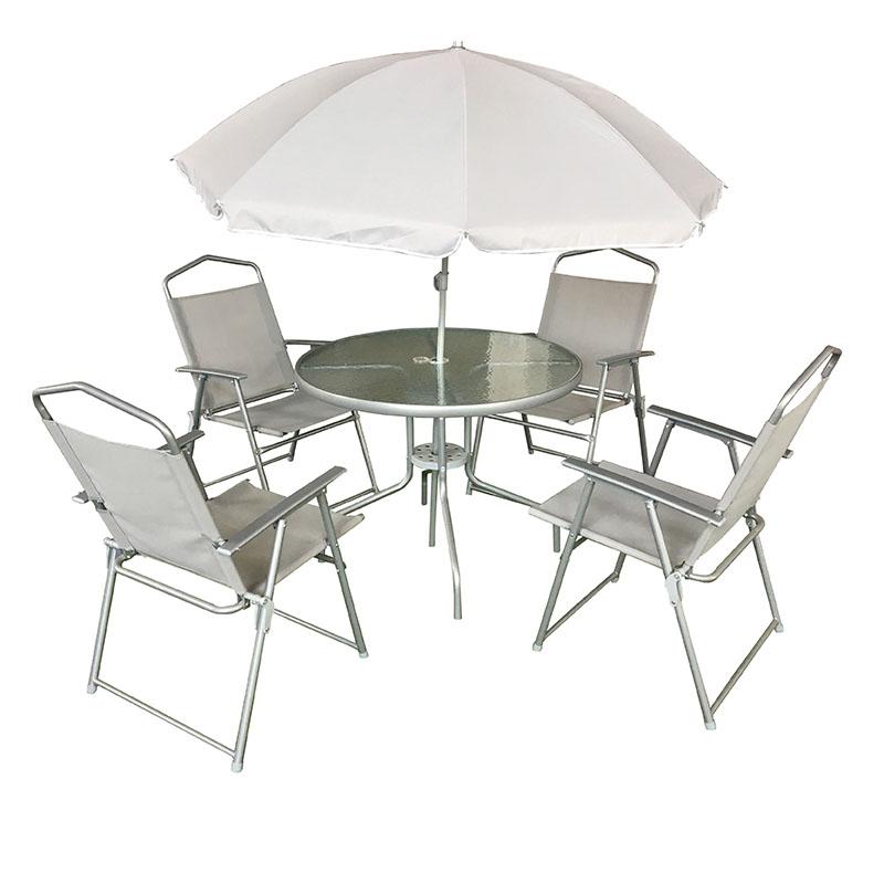 JJS511 Steel frame textilene folding garden set