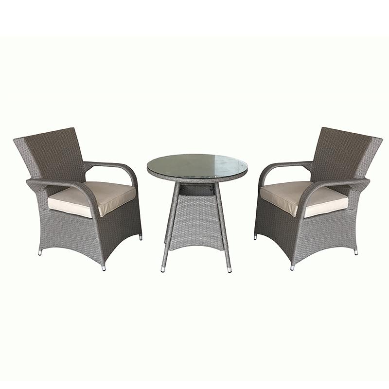 Factory selling Outdoor Sofa Setting Furniture - JJS306 Aluminum rattan bistro set patio set – Jin-jiang Industry Featured Image