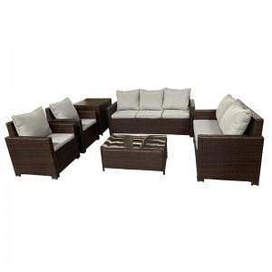 New Arrival China Garden Sling Furniture Set - JJS3202 Steel frame rattan 6pcs sofa set – Jin-jiang Industry