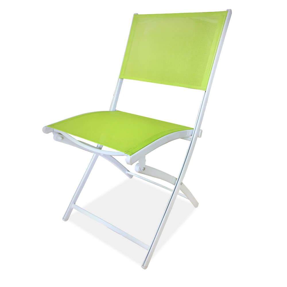 2019 High quality Outdoor Aluminum Table Set - JJC401 Aluminum texitlene folding chair – Jin-jiang Industry