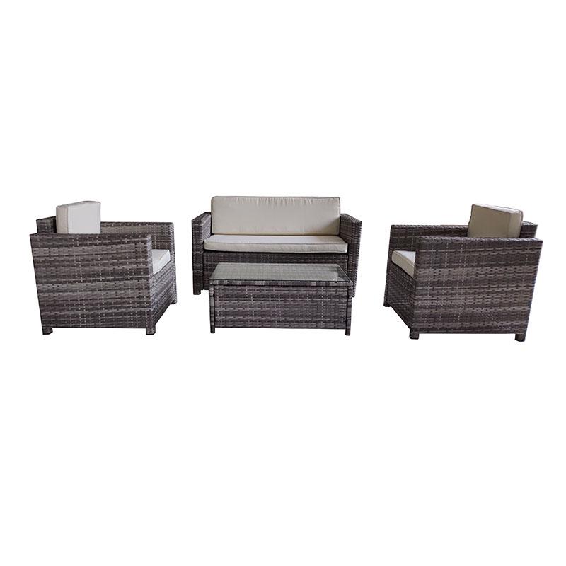 High definition Garden Pavilion Gazebo - JJS3070W Steel frame rattan 4pcs sofa set – Jin-jiang Industry