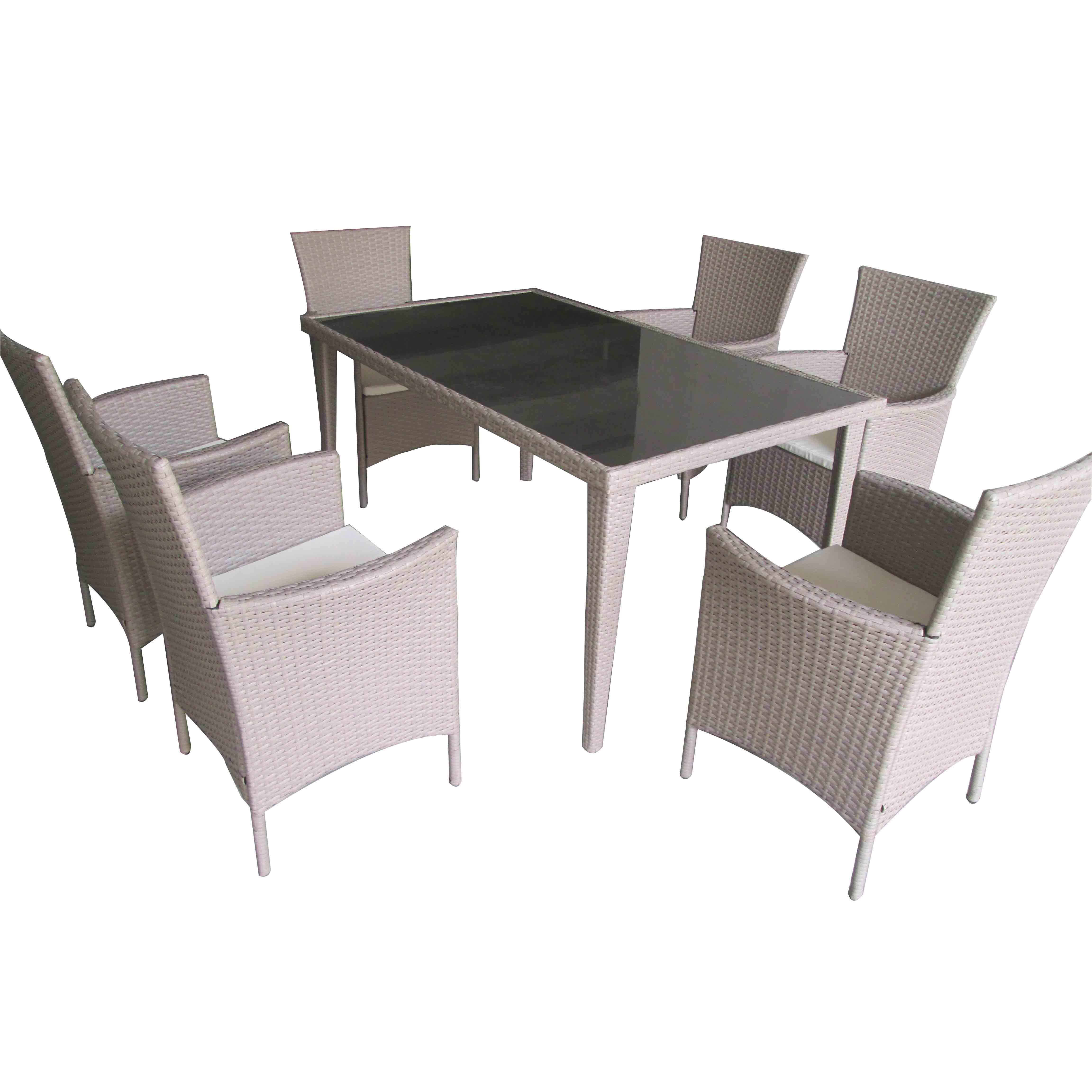 Reasonable price Wicker Furniture Sets - JJS3005W Steel frame rattan garden dinning set – Jin-jiang Industry