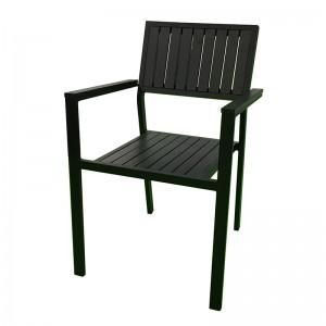 100% Original Fishing Folding Chair - JJC14003 Aluminum PS wood stacking chair – Jin-jiang Industry