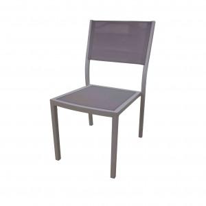 JJ421 Aluminum textilene stacking chair