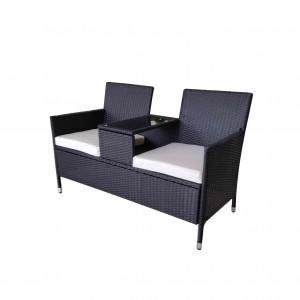 Wholesale Price Conversation Seating Set - JJC3188W Steel rattan loveseat – Jin-jiang Industry