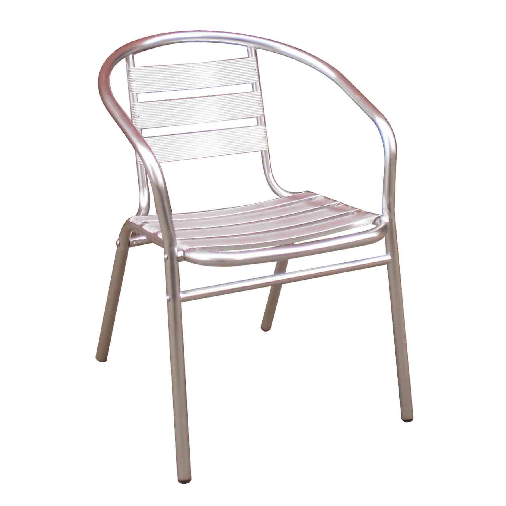 China Cheap price Cast Aluminum Table Set - JJ6101C Aluminum slats shinny stacking outdoor garden patio Chair – Jin-jiang Industry