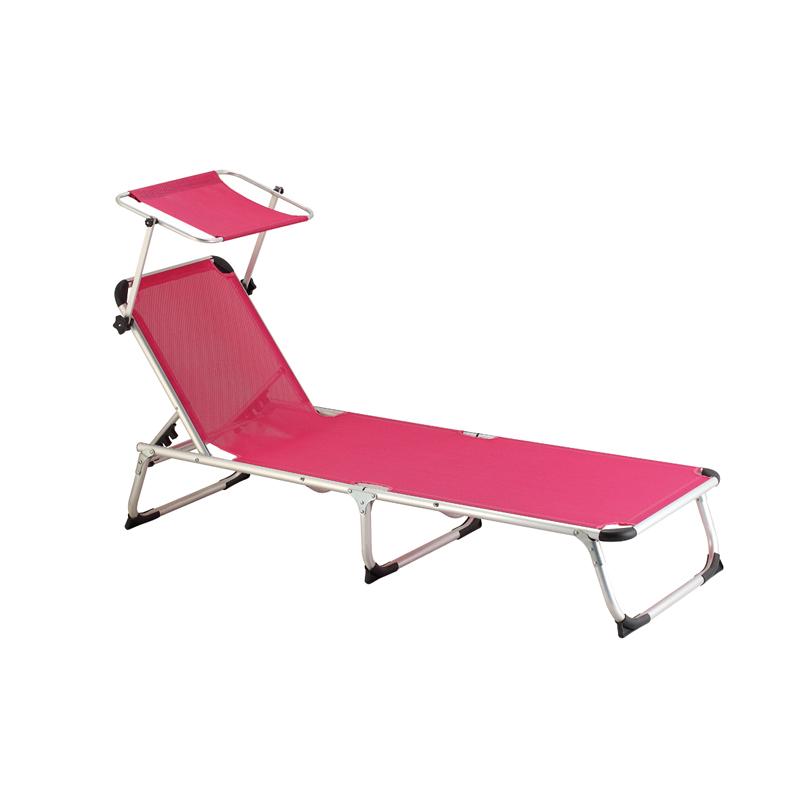 Wholesale Price Outdoor Sun Lounger - JJLXB-002B Aluminum adjustable camping lounger – Jin-jiang Industry