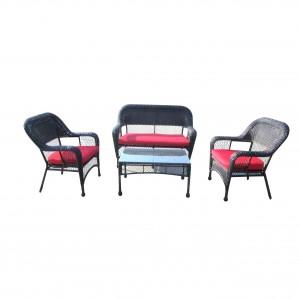 JJS181ST Steel frame rattan 4pcs sofa set