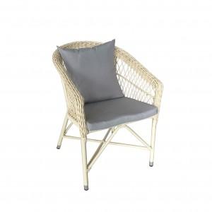 JJC230 Aluminum rattan dinning chair