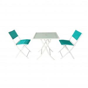 Factory wholesale Outdoor Sofa Furniture Set - JJS501 Steel frame textilene folding bistro set – Jin-jiang Industry