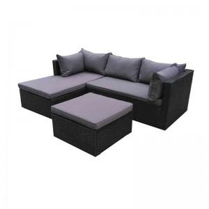 Chinese wholesale Metal Picnic Table - JJS4204 Aluminum rattan lounger sofa set – Jin-jiang Industry
