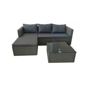 Super Lowest Price Apartment Furniture Set - JJS3205 Steel frame rattan lounger sofa set – Jin-jiang Industry