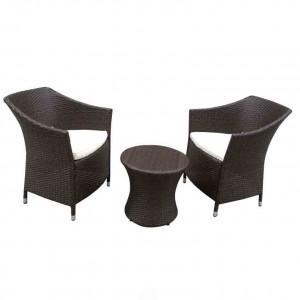 factory low price Garden Furniture Outdoor Rattan Sofa - JJS301 Steel frame rattan balcony set – Jin-jiang Industry