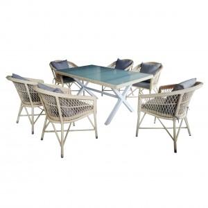 New Arrival China Garden Sling Furniture Set - JJS230AL Aluminum rattan dining set – Jin-jiang Industry
