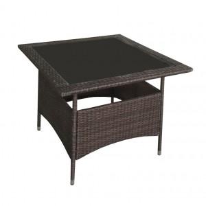 JJT3176G Steel frame outdoor rattan table