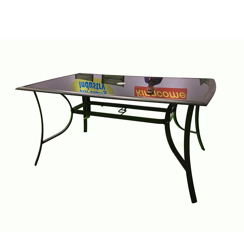 OEM Manufacturer Garden Sun Lounger - JJT1201 Aluminum outdoor glass table – Jin-jiang Industry Featured Image
